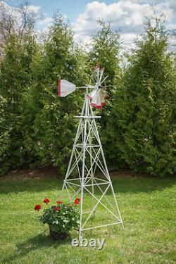 12 Ft Tall Hand Made in the USA Aluminum Garden Windmill, Wind Wheel