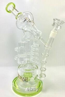 14 LOOKAH Multiple Recycler Beautifu Glass Water Pipe Hookah Bong Bubbler