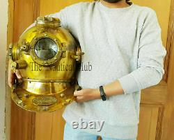 18 Divers Helmet Diving Helmet U. S Navy Mark V Deep Sea Antique Scuba Vintage