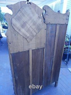 1920's Honey Oak Secretary Side By Side Desk 66 3/4 Height
