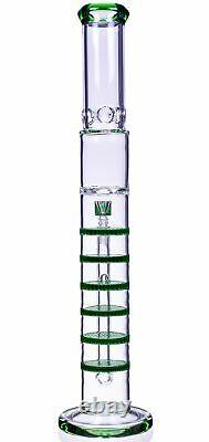 20 Inch HONEYCOMB Perc Bong BIG HUGE Cylinder Glass Water Pipe STRAIGHT USA