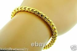 24K 9999 Yellow Gold Dragon scale Bracelet Handmade in USA 7 inches 45.25 grams