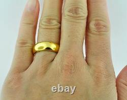 24K 999.9 Solid Yellow Gold Band Ring Handmade in USA 6mm 15.00 gram Size 8-12