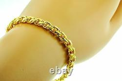 24K 999.9 Solid Yellow Gold Bracelet Handmade in USA 7 Inches 30.00 grams