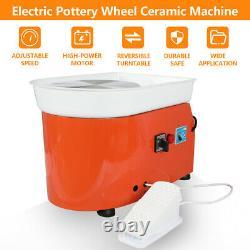 25CM 350W 110V Electric Pottery Wheel Machine Ceramic Work Clay Art Craft in USA