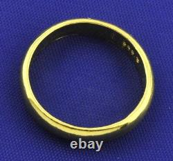 3.70 Grams 24K 9999 Yellow Gold Band Ring Handmade in USA 3mm Investment