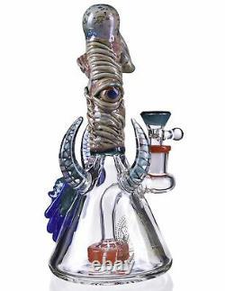 8 Showerhead Perc Bong Unique Heavy Glass Water Pipe Hookah Tattoo Glass USA