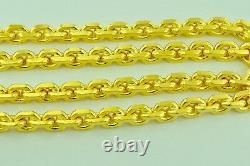 9999 24K Yellow Gold Anchor chain necklace handmade in USA 189.60 gram 24 inches