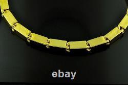 9999 24K Yellow Gold Baht Box Bracelet 30.0 Grams Handmade in USA Rectangle