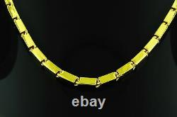 9999 24K Yellow Gold baht box Chain necklace handmade in USA 46.00 grams