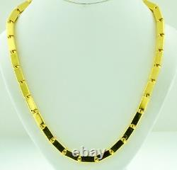 9999 24K Yellow Gold baht box Chain necklace handmade in USA 90.00 grams