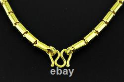 9999 24K solid Yellow gold Round Barrel handmade chain necklace 55.45 grams USA