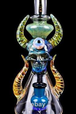 ALIEN Tattoo Glass 12 MONSTER BONG Glass Water Pipe THICK Bubbler Hookah USA
