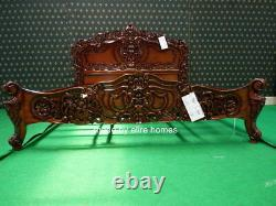 BESPOKE USA King size Mahogany french Rococo bed designer baroque furniture