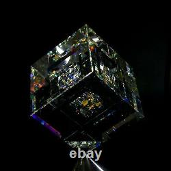 Bold Whisper Glass Art Cube Sculpture by Jon Kuhn Crystal Chihuly Jack Storms