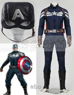 Captain America 2 Steven Rogers Winter Soldier Cosplay Costume Halloween Costume