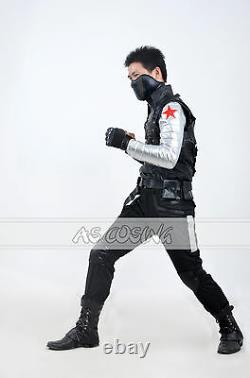 Captain America Winter Soldier Costume Bucky Barnes Cosplay Costumes Outfit