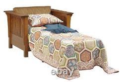 Custom Made Arts & Crafts Stickley Style Prairie Sleeper CHAIR USA Made