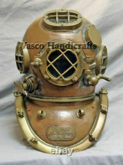 Diving Helmet U. S Navy Mark V-18 Antique Deep sea Scuba Divers Replica Style