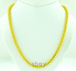 Dragon scale Necklace 75.20 GRAM Handmade in USA 24 inches 24K 9999 Yellow Gold