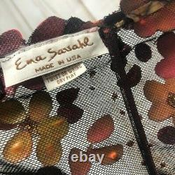 Ema Savahl Couture Garden Floral Coachella Bohemian USA Tie Top Tank Top