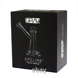 Grav Labs Arcline Upright BUBBLER Glass Water Pipe BONG Free Shipping USA