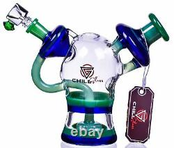 HEAVY Chill Glass 8 RECYCLER Showerhead THICK BONG Glass Water Pipe UNIQUEUSA
