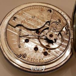 Hamilton 18S. 21 jewels adj. Grade 941 Railroad pocket watch coin silver hunter