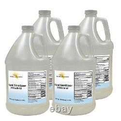 Hand Sanitizer Liquid (Non Gel)- 4 Gallons 128 oz Highest Alcohol 80% USA MADE