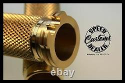 Harley Davidson Sportster Brass Hand Grips Custom Chopper Bobber Made In USA