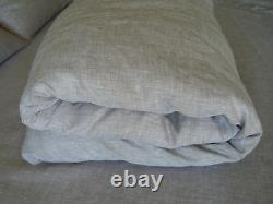 Linen Duvet Cover Oatmeal Beige Color 100% Pure Natural European Light Gray