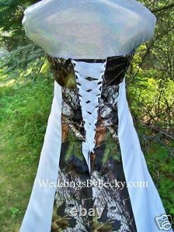 NEW Camo Wedding Gown -Mossy Oak SATIN camo- MADE ONLY IN USA