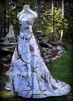 NEW Camo Wedding Gown/REALTREE or MOSSY OAK SATIN'Abigail' MADE ONLY IN USA
