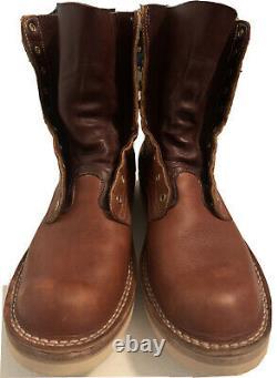 NICKS Handmade Boots USA Leather Work Logger Travelers Boots Mens Sz 10.5 D