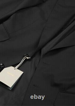 New TOM FORD Windsor Signature Solid Black Suit Size 50 IT / 40R U. S