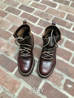 Nicks Handmade Boots Robert / Size 9D / Burgundy CXL / Made in USA