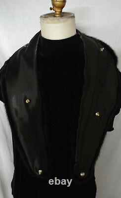Real Black Mink Fur Collar Men Women Detachable New made in the usa