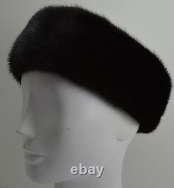 Real Black Mink Fur Headband New (made in the U. S. A.)