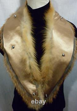 Real Crystal Fox Fur Collar Men Women Detachable New made in the USA genuine