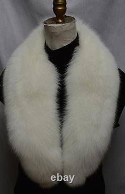 Real Natural White Fox Fur Collar Detachable New made in the usa