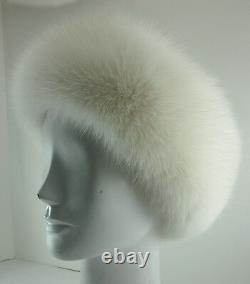 Real Shaddow White Fox Fur Headband (made in the U. S. A.)