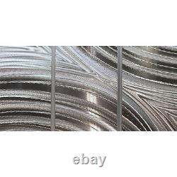Silver Modern Metal Wall Art Neutral Hanging Art for Home or Office WOW
