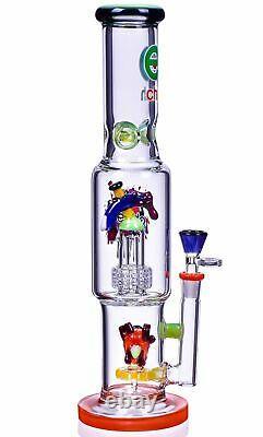 TALL Cheech 15 Multi Perc BONG Glass Water Pipe ALIEN Bubbler MONSTER USA