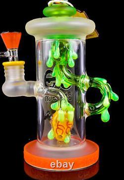 THICK Cheech 12 HEART Recycler BONG Wigwag Glass Water Pipe HEAVY Hookah USA