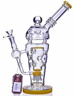 THICK Chill Glass 13 HEAVY Sprinkler Perc BONG UNIQUE Hookah COOL Bubbler USA