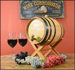 USA Made 1L 20L White Wood Whiskey Oak Barrel For Aging Whiskey & Spirits