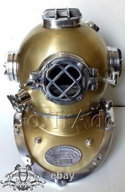 Vintage Antique Morse U. S Navy Diving Divers Helmet Solid Steel & Aluminium Gift