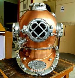 Vintage Diving Helmet Antique Scuba U. S Navy Mark V Scuba Divers Helmet Gift