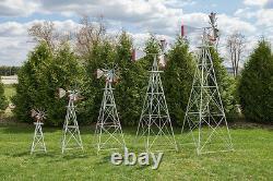 12 Ft Tall Hand Made In The USA Aluminium Garden Windmill, Wind Wheel