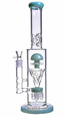 16 Pouces Big Heavy Inline Dôme Sprinkler Entonnoir Champignonperc Bong Pipe D'eauusa
